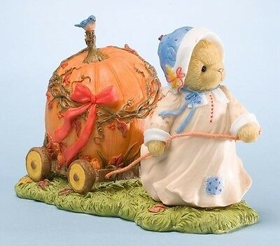 "Cherished Teddies Mildred ""abundant Blessings"" 4023639 Pulling Pumpkin Free Ship"