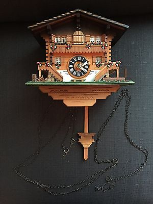 Cuckoo Clock Swiss Made Vintage Chalet Style