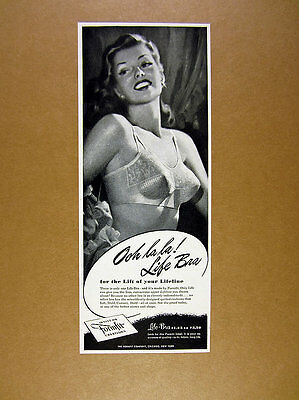1947 Formfit Life-Bra pretty woman illustration art vintage print Ad