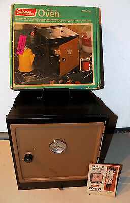 Rare Vintage 1969 1970 Coleman Camp Stovetop Oven 5010A700 Works W/box Used 3Ti