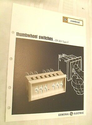 Vintage GE Brochure, Thumbwheel Switches, 1968