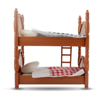 Dolls House Miniature Bedroom Furniture Bunk Bed For Sylvanian Families