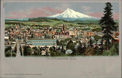 1905 Lewis & Clark Portland OR View of City and Mt. Hood Oregon B. B. Rich Offic