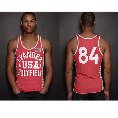 Roots of Fight Evander Holyfield USA Striped Tank Top - Red