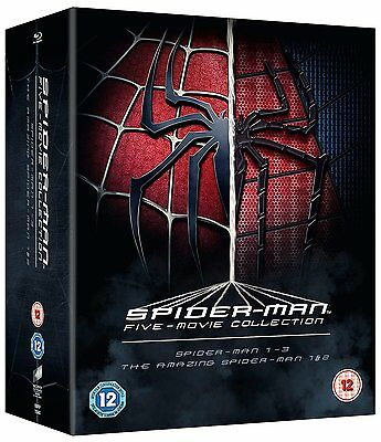 Spiderman Spider-man Five Movie Collection 5 Blu-Ray Box Set BRAND NEW Free Ship