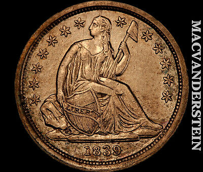 1839 Seated Liberty Dime- Lustrous !!  Almost Uncirculated+ !! #h2671