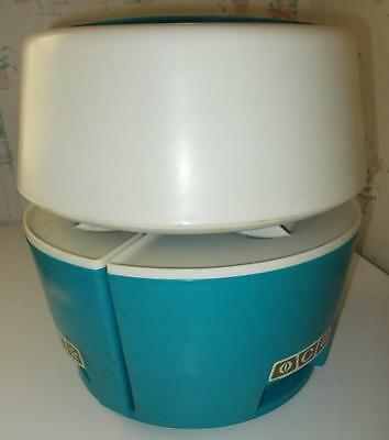 VINTAGE 1970'S RUBBERMAID CAROUSEL CANISTER SET RARE BLUE wedge shaped EUC