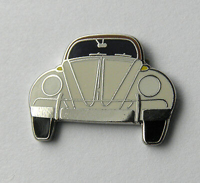 White Vw Volkswagen Bug Beetle Front Automobile Car Lapel Pin Badge 1 Inch