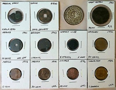 Lot of 12 Collectible World Coins, Ancients, and Silver! FREE Shipping!