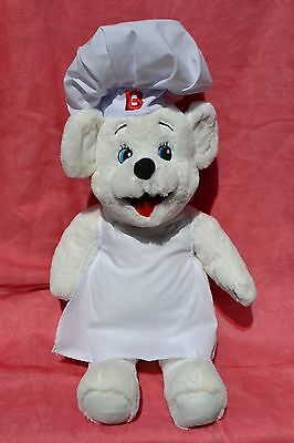 """Bimbo bread bakery Bear white 18"""" with chef's hat and apron nice condition!"""