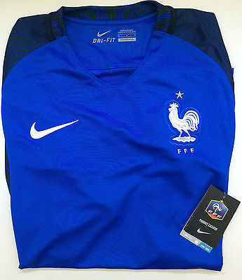 Maillot De Foot Nike Fff Taille L - Neuf Emballe