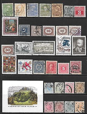 AUSTRIA Interesting Early Mint and Used Issues Selection (Dec 0408)