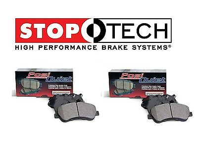 For Fiat 500 12-16 Set of Rear StopTech Posi Quiet Ceramic Brake Pads 105.15690