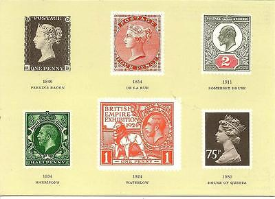 British Stamp Printers. 1840 - 1980 - Unposted Postcard 1984