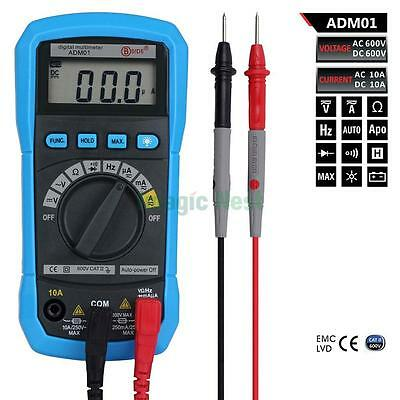 ADM01 Digital Auto Ranging Clamp Multimeter Meter Frequency AC DC Voltage Tester