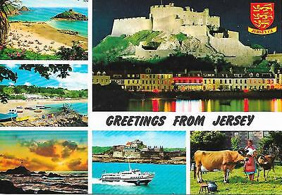 Jersey- Greetings from - Posted Postcard