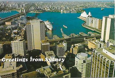 Sydney -Greetings from , Panoramic View - Australia - Posted Postcard