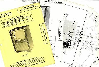 Packard Bell - 2101 To 2602 - Photofact Folder - Service Manual Physical Book
