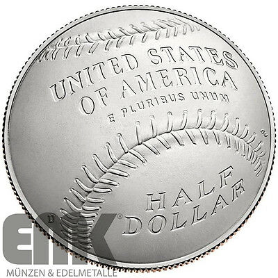 USA - 1/2 Dollar 2014 - National Baseball Hall of Fame - Kupfer-Nickel in Stgl.