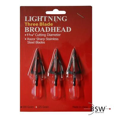LIGHTNING Jagdspitzen - 100 Grain - Black - 3er Pack