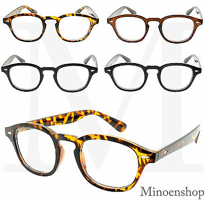 Classic Oval Frame Clear Lens Glasses Mens Celebrity Style Depp VTG 50's Johnny