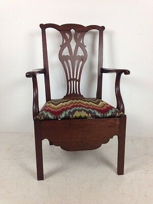 A Very Fine Antique Pennsylvania Walnut Chippendale Potty Chair, Circa 1780's