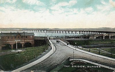 The Tay Bridge Dundee.Edwardian Postcard Posted. See Scans