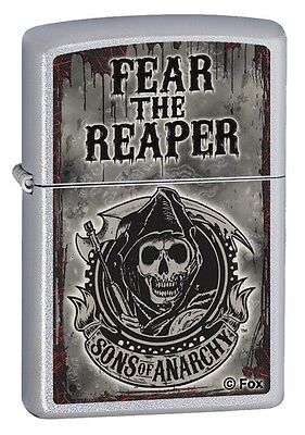 Zippo 28502, Sons of Anarchy, Satin Chrome Finish Lighter, Full Size