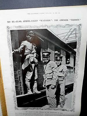 1911-ILLUSTRATED LONDON NEWS- Revolution China Lu Chun Army Hankow,San Quentin