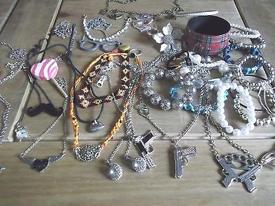 Mixed Lot Costume Jewellery,diamante Necklaces Earrings,bracelets,rings
