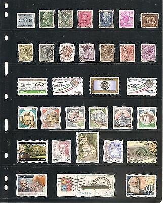A Nice Collection  Of 32  Italy   Fine Used   Stamps