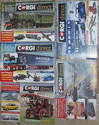 Corgi Catalogues  x 5 from 2012