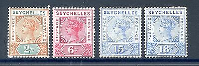 1897 Seychelles First Four from the Set 2c-18c SG 28-31. MM Cat £25.50
