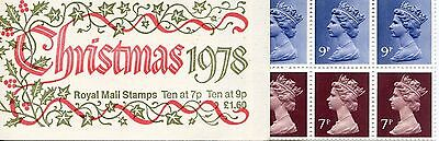 1978 GB £1.60 First Christmas folded Stamp booklet SG FX1