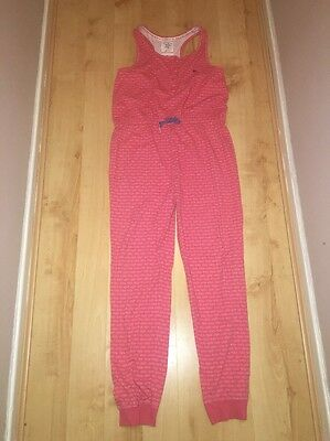 Girls Pink Mantaray Jumpsuit Age 13-14 Excellent Condition
