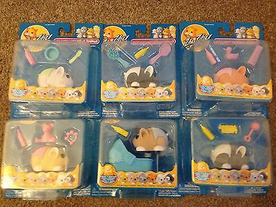 NEW ZHU ZHU PETS HAMSTER BABIES WITH ACCESSORIES CHOOSE YOUR OWN Baby RARE