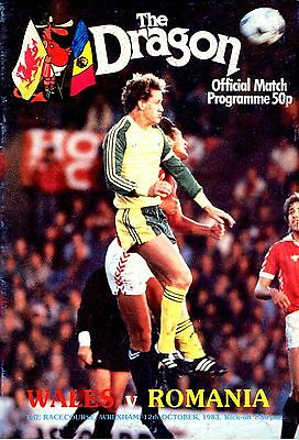 Wales v Rumania European Champs Qualifier @ The Racecourse Ground 12/10/1983