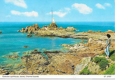 Corbiere Lighthouse, Jersey- Posted Postcard