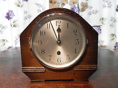 Smiths 8 Day Oak Mantel Clock Gwo