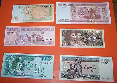 6  Foreign Bank Note's  Set 2