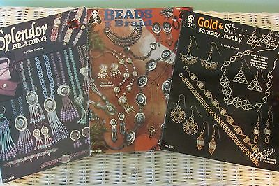 Lot Of 3 Jewelry Beading Books Beads & Braids Splendor Beading Gold & Silver