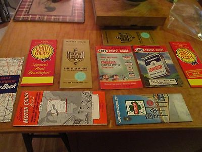 9  Vintage 50's 60's Travel Guides Congress,superior,master Host,quality,gulf +
