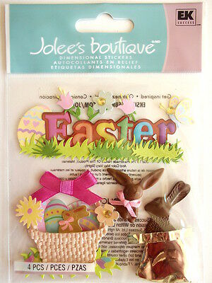 Jolee's Boutique Stickers - Easter Chocolate Bunnies
