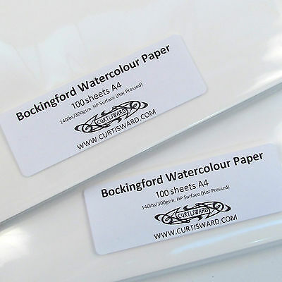 Bockingford Artists Hot Pressed WaterColour A4 Paper 100 Sheets 300g Curtisward