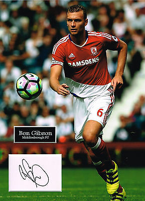Ben GIBSON SIGNED Autograph 16x12 Photo Mount AFTAL COA Middlesbrough
