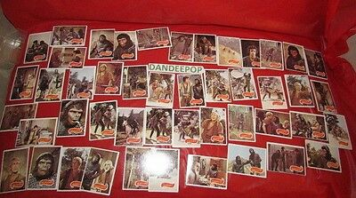 Planet of The Apes Assorted Vintage 1967 Puzzle Trading Cards Apjac T.C.G. 47 pc