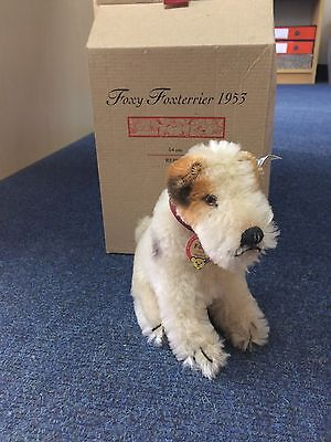 STEIFF FOXY FOX TERRIER DOG 1953 REPLICA  - No 01128 LIMITED EDITION OF 3000