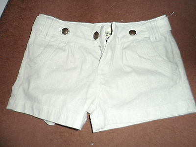 """New look girls cream shorts with gold glitter detail age 14 waist 28"""""""