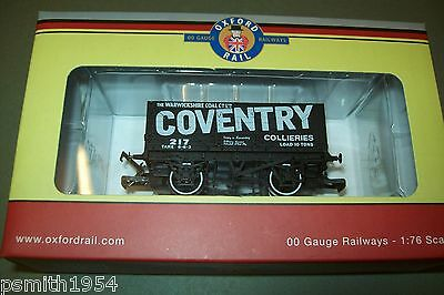 OXFORD RAIL  COVENTRY COLLIERIES  7 PLANK WAGON  OO   1:76 scale