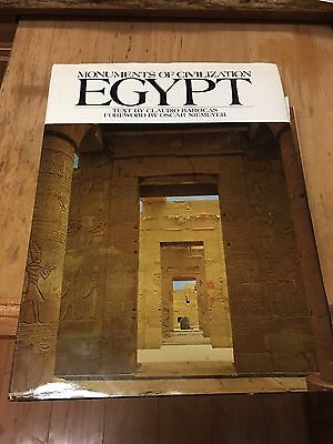 Monuments Of Civilization Egypt Text By Claudio Barocas Picture Color Book 1972